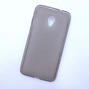 Силиконовый матовый полупрозрачный чехол для Alcatel U5 HD 5047d  Серый