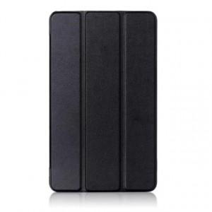 Сегментарный чехол книжка подставка на непрозрачной поликарбонатной основе для Huawei MediaPad T3 7 Черный