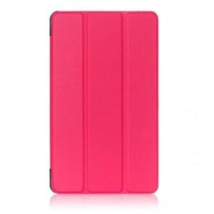 Сегментарный чехол книжка подставка на непрозрачной поликарбонатной основе для Huawei MediaPad T3 7 Пурпурный