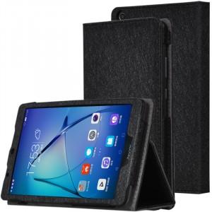 Сегментарный чехол книжка подставка текстура Золото с рамочной защитой экрана, магнитной защелкой и поддержкой кисти для Huawei MediaPad T3 7 Черный