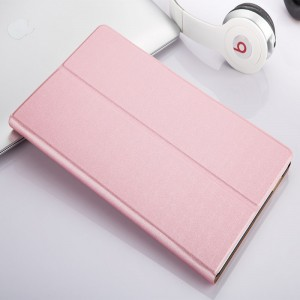 Сегментарный чехол книжка подставка на непрозрачной поликарбонатной основе для Huawei MediaPad T3 7 Розовый