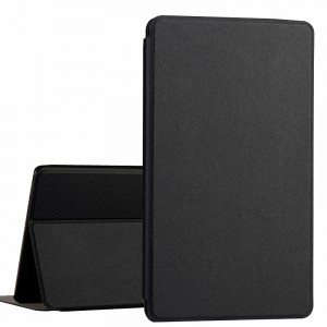 Чехол книжка подставка на непрозрачной поликарбонатной основе для Huawei MediaPad T3 7  Черный