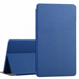 Чехол книжка подставка на непрозрачной поликарбонатной основе для Huawei MediaPad T3 7  Синий