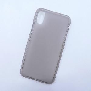 Силиконовый матовый полупрозрачный чехол для Iphone X 10/XS Серый