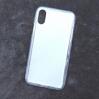 Силиконовый матовый полупрозрачный чехол для Iphone X 10  Белый