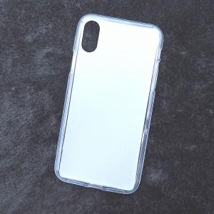Силиконовый матовый полупрозрачный чехол для Iphone X 10