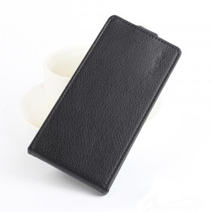 Чехол вертикальная книжка на силиконовой основе на магнитной защелке для Alcatel A7  Черный