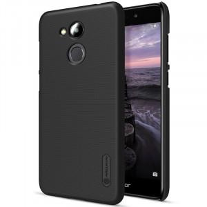 Пластиковый непрозрачный матовый нескользящий премиум чехол с повышенной шероховатостью для Huawei Honor 6C Pro