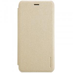 Чехол горизонтальная книжка текстура Золото на пластиковой нескользящей премиум основе для Huawei Honor 6C Pro