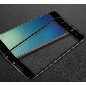 Полноэкранное ультратонкое износоустойчивое сколостойкое олеофобное защитное стекло-пленка для Asus ZenFone 4 Max Черный