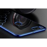 Силиконовый глянцевый полупрозрачный чехол с текстурным покрытием Соты для Xiaomi Mi5X/Mi A1 Синий