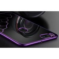 Силиконовый глянцевый полупрозрачный чехол с текстурным покрытием Соты для Xiaomi Mi5X/Mi A1 Фиолетовый