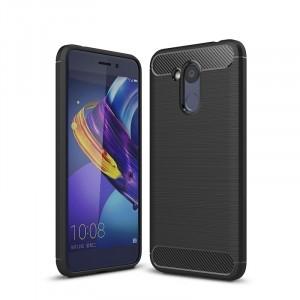 Силиконовый матовый непрозрачный дизайнерский фигурный чехол текстура Металлик для Huawei Honor 6C Pro
