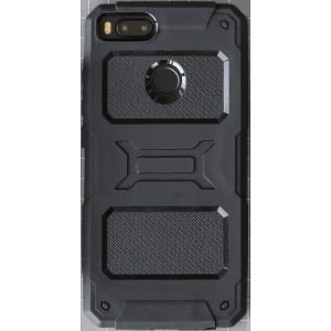 Противоударный двухкомпонентный силиконовый матовый непрозрачный чехол с нескользящими гранями и поликарбонатными вставками экстрим защиты для Xiaomi Mi5X/Mi A1