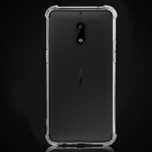 Силиконовый матовый транспарентный дизайнерский фигурный чехол с усиленными углами для Nokia 3