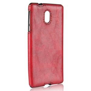 Силиконовый матовый непрозрачный чехол с текстурным покрытием Кожа для Nokia 3