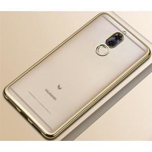 Силиконовый глянцевый полупрозрачный чехол для Huawei Nova 2i Бежевый