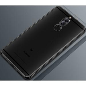 Силиконовый глянцевый полупрозрачный чехол для Huawei Nova 2i Черный