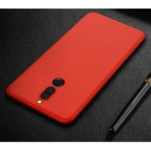Силиконовый матовый непрозрачный чехол для Huawei Nova 2i  Красный