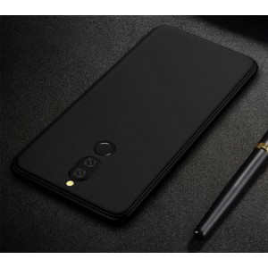 Силиконовый матовый непрозрачный чехол для Huawei Nova 2i  Черный