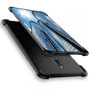 Силиконовый матовый непрозрачный чехол с нескользящим софт-тач покрытием и усиленными углами для Huawei Nova 2i  Черный