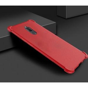 Силиконовый матовый непрозрачный чехол с нескользящим софт-тач покрытием и усиленными углами для Huawei Nova 2i  Красный
