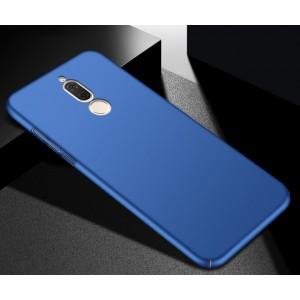 Пластиковый непрозрачный матовый чехол с допзащитой торцов для Huawei Nova 2i Синий