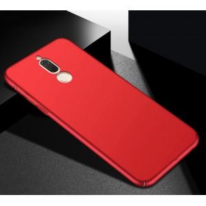 Пластиковый непрозрачный матовый чехол с допзащитой торцов для Huawei Nova 2i Красный