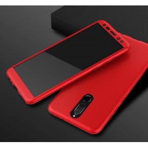 Пластиковый непрозрачный матовый чехол сборного типа с улучшенной защитой элементов корпуса для Huawei Nova 2i Красный