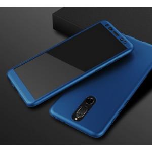 Пластиковый непрозрачный матовый чехол сборного типа с улучшенной защитой элементов корпуса для Huawei Nova 2i Синий
