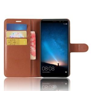 Чехол портмоне подставка на силиконовой основе с отсеком для карт на магнитной защелке для Huawei Nova 2i