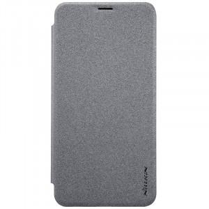 Чехол горизонтальная книжка на пластиковой матовой нескользящей премиум основе для Huawei Nova 2i Серый