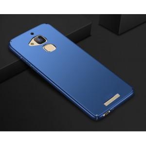 Пластиковый непрозрачный матовый чехол с улучшенной защитой элементов корпуса для Asus ZenFone 3 Max Синий
