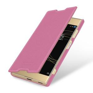 Кожаный чехол горизонтальная книжка (премиум нат. кожа) для Sony Xperia XA1