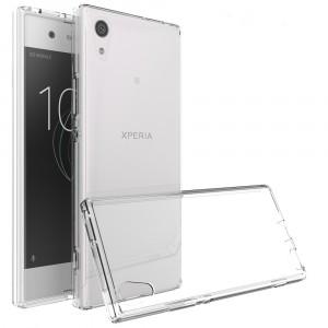 Силиконовый глянцевый полупрозрачный чехол для Sony Xperia XA1
