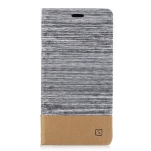 Чехол горизонтальная книжка подставка на силиконовой основе с отсеком для карт и тканевым покрытием для Sony Xperia XA1