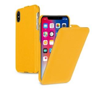 Кожаный чехол вертикальная книжка (премиум нат. кожа) для Iphone X 10/XS