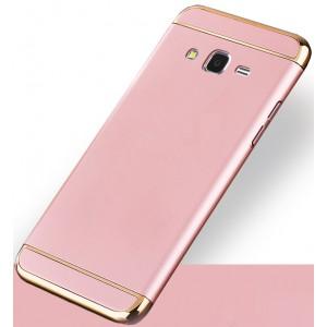Пластиковый непрозрачный матовый чехол сборного типа с улучшенной защитой элементов корпуса для Samsung Galaxy J2 Prime