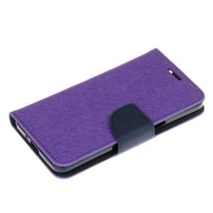Чехол портмоне подставка на силиконовой основе с отсеком для карт на дизайнерской магнитной защелке для Samsung Galaxy J2 Prime