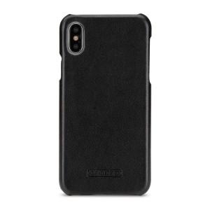 Кожаный чехол накладка (премиум нат. кожа) для Iphone X 10