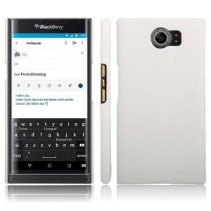 Чехол накладка текстурная отделка текстура Крокодил для Blackberry Priv  Белый