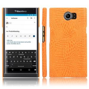 Чехол накладка текстурная отделка текстура Крокодил для Blackberry Priv