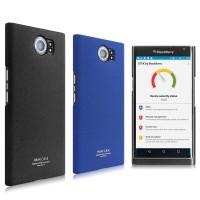 Пластиковый непрозрачный матовый нескользящий премиум чехол с повышенной шероховатостью для Blackberry Priv