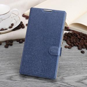 Чехол горизонтальная книжка подставка текстура Золото на пластиковой основе с отсеком для карт на магнитной защелке для Blackberry Priv  Синий