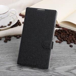 Чехол горизонтальная книжка подставка текстура Золото на пластиковой основе с отсеком для карт на магнитной защелке для Blackberry Priv  Черный