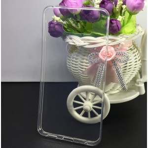 Силиконовый глянцевый транспарентный чехол для LG V30