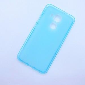 Силиконовый матовый полупрозрачный чехол для Huawei Nova Plus Голубой