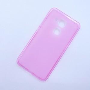 Силиконовый матовый полупрозрачный чехол для Huawei Nova Plus Розовый