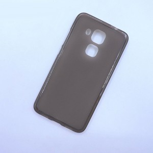 Силиконовый матовый полупрозрачный чехол для Huawei Nova Plus Серый