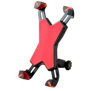 Двухплоскостной велосипедный держатель на руль для гаджетов 3.5-6.5 дюймов Красный